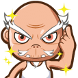 Bad face grandpa(Large size version)
