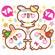 Cherry Mommy's Rabbits -Animated Sticker