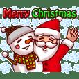 メリークリスマス!スタンプ(サンタ ver)