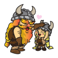 Viking and son