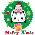 Merry X'mas with Panda & Pig(Ellya)