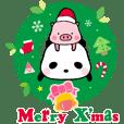 Ellya的甜甜貓熊&蜜蜜小豬歡樂聖誕節