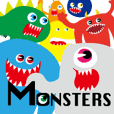 colorful MONSTERS sticker