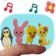 move fluffy cute sticker 3