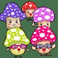 Charming mushroom world