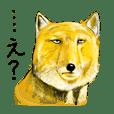 hand-drawn animal sticker