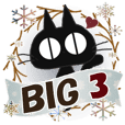 BIG Sticker. black cat-3