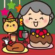 Grandma's winter : Big sticker_Japanese