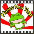 Frog's NewYear moving sticker