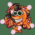 "Animated shrimp ""Bori"" Stickers"