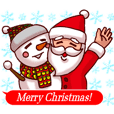 Merry Christmas Sticker! with Santa