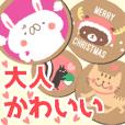coaster sticker.Cute animals