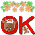 Cute reindeer-Extra large text stickers