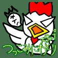 Tsukkomi bird sticker