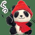 【動く】冬パンダ