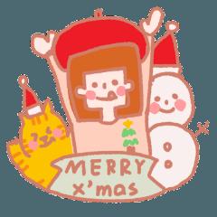 蔡小妹和豆皮過聖誕節+新年快樂