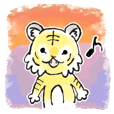 Cutie Tiger Stickers