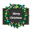 Chalk art styled Christmas card