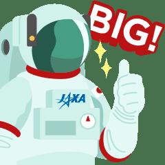 """【公式】JAXA """"BIG"""" 宇宙スタンプ★"""