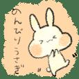 Sticker of a playful rabbit!