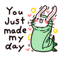 dadar dulung rabbit sticker