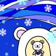 ステンドグラスハートの白くま3~お正月