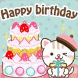 Natural cat, birthday congrats english