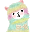 Super fluffy alpaca stickers