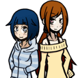 茉幌と莉久のスタンプ