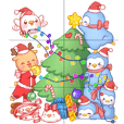 聖誕快樂神奇節慶日動物可愛限定