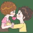 Sweet cutie couple in love (Eng)