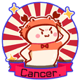 Cancer daily stickers for conversation