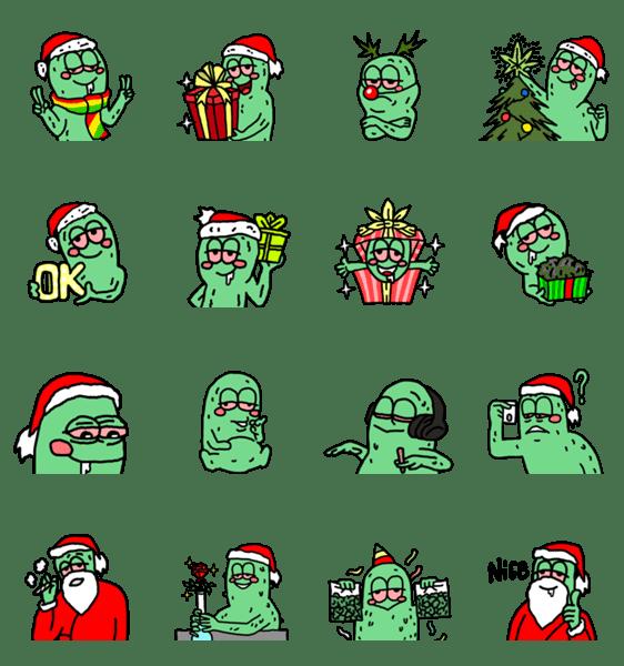 「緑ちゃん メリクリスマス」のLINEスタンプ一覧