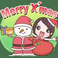Christmas girl - Useful stickers
