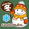 Snowman winter