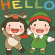 玲玲與沛沛女孩/動圖 20 冬季日常用語