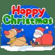 The Happy Santa wish you a merry xmas