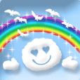 動態貼圖☆可愛的藍天貼圖訊息