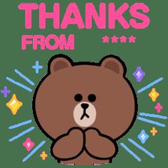 BROWN & FRIENDS Custom Stickers – LINE stickers | LINE STORE
