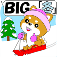 "Mameshiba BIG sticker ""winter"""