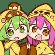 YUZUHA chan BOTAN kun Sticker
