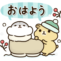 Chubby hamster Sticker(winter)