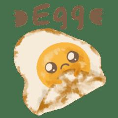 【日常】たまご・目玉焼きスタンプ 英語ver