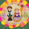 Handmade felt fairy-tale family