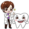 Happy male dentist and smart tooth