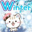 Natural cat, moving winter&Christmas eng