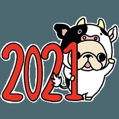 Frebullchan Japanese new year Sticker