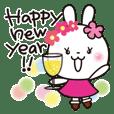 お正月✨きらきら花うさちゃん✨改訂版2021