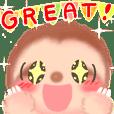 やさしく応援♪ ナマケモノ(無負け者)