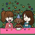 Toy poodle&Japanese Girls